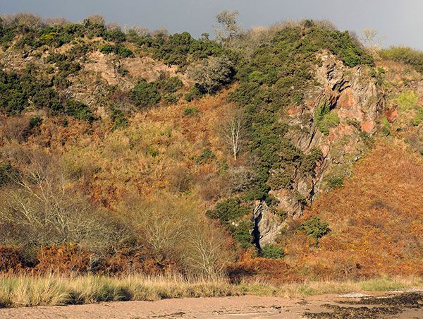 Costline cliffs near Cairds Cave